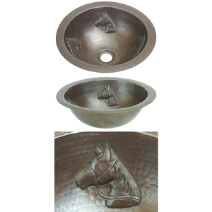 Copper Bath Round-Horse Head Sink-Limited Quantities Available! by Pure Spa Copper Elements