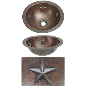 Copper Bath Round-Star Sink by Pure Spa Copper Elements