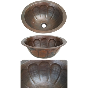 Copper Bath Round Lavatory Basin-Pumpkin-Limited Quantities Available! by Pure Spa Copper Elements
