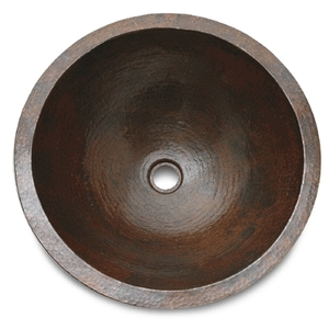 Copper Round Lavatory Sink-Limited Quantities Available! by Pure Spa Copper Elements