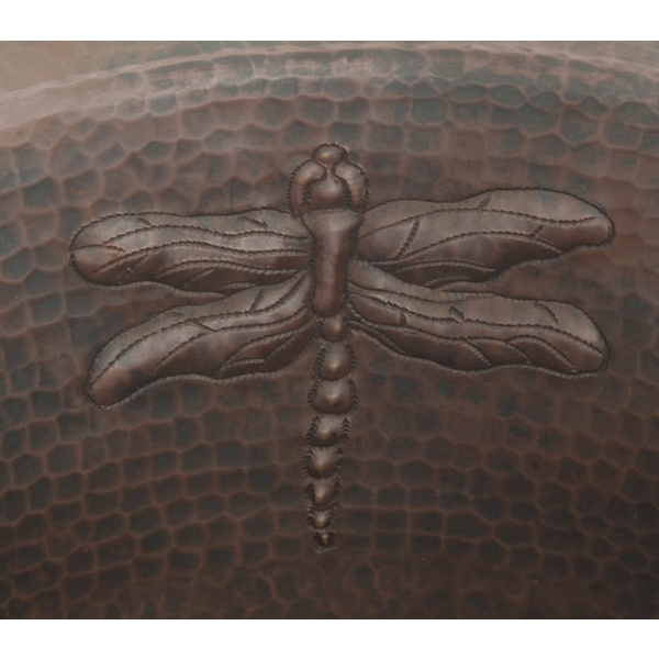 Copper Bath Round-Dragonfly Sink by Pure Spa Copper Elements