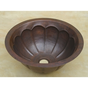 Copper Bath Round-Pumpkin Sink by Pure Spa Copper Elements