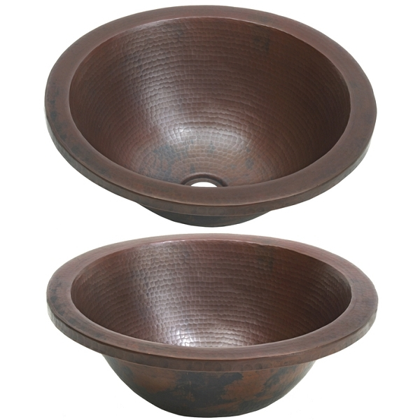 Round Apron Vessel Sink by Pure Spa Copper Elements