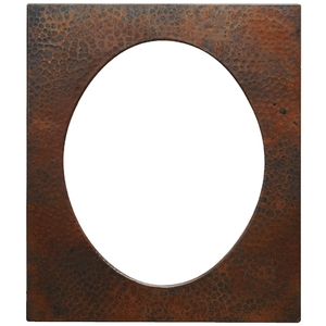 Rectangle Copper Frame Oval Center by Pure Spa Copper Elements