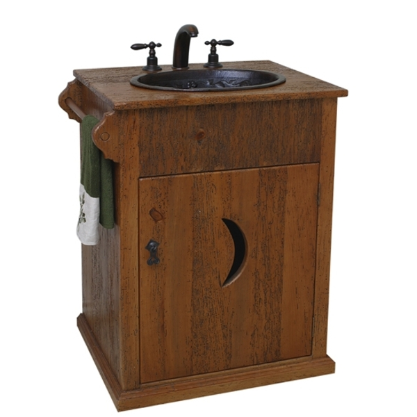 Rustic Pine Outhouse Bath Vanity by Pure Spa Copper Elements