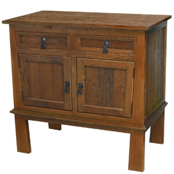 Rustic Wood Mission Bath Vanity by Pure Spa Copper Elements