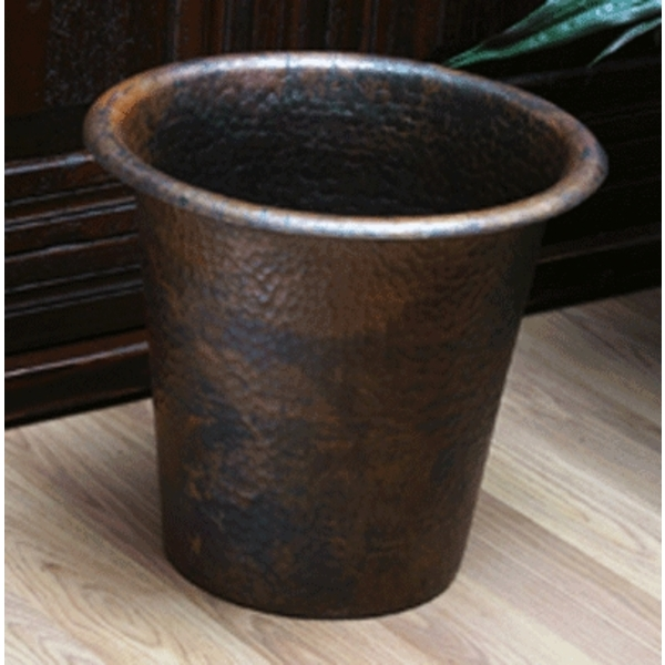"Copper Waste Can 13"" by Pure Spa Copper Elements"