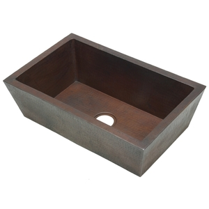Double Wall Full Apron Farmhouse Copper Sink by Pure Spa Copper Elements