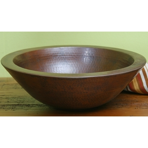 Copper Sink Double Thick Vessel Bowl by Pure Spa Copper Elements