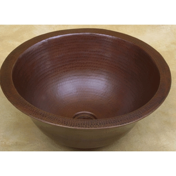 Copper Double Thick Vessel Sink Bowl by Pure Spa Copper Elements