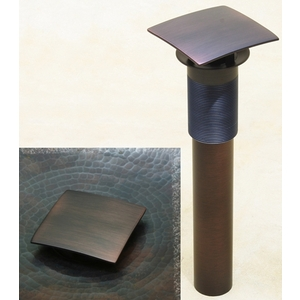 Bath Drain Square Umbrella Drain by Pure Spa Copper Elements