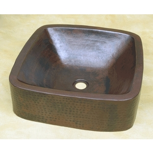 Square Double Wall Vessel by Pure Spa Copper Elements