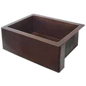 "Copper Kitchen Farmhouse Apron Sink 30"" by Pure Spa Copper Elements"