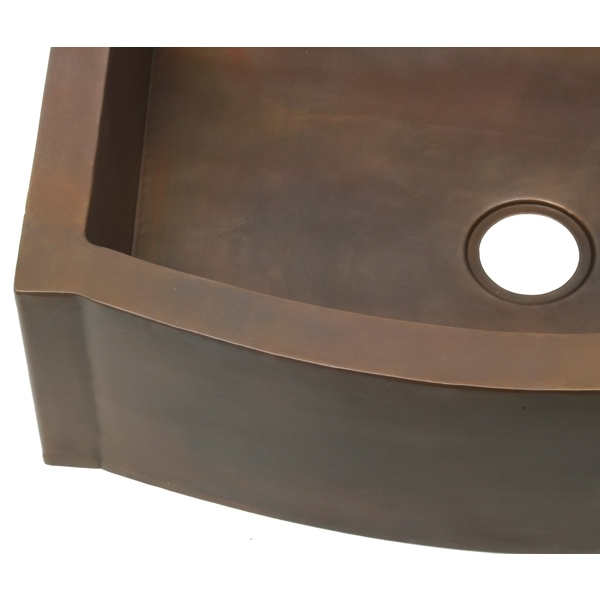 Smooth Copper Kitchen Sink by Pure Spa Copper Elements