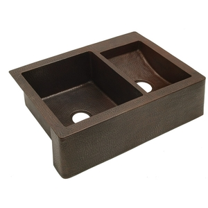 Copper Kitchen Sink Farmhouse Apron Sink by Pure Spa Copper Elements