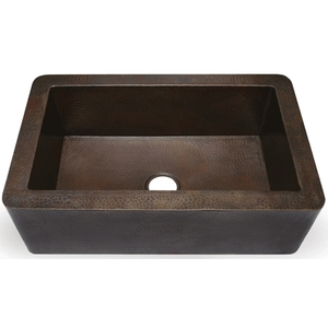 "Copper Kitchen Farmhouse Apron Sink-Single Basin 36"" XL by Pure Spa Copper Elements"