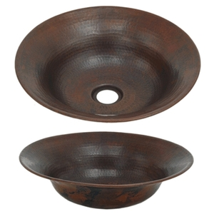 Copper Mini Flared Vessel Sink by Pure Spa Copper Elements