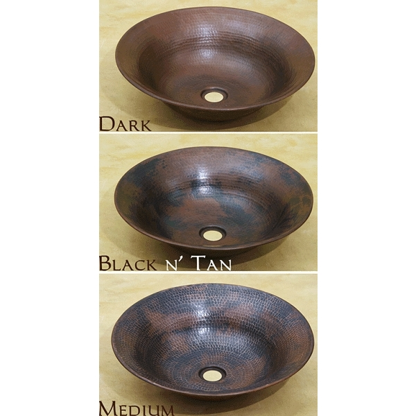 Copper Flared Vessel Bath Sink by Pure Spa Copper Elements