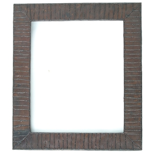 Rectangle Copper Mirror Frame Linear Design by Pure Spa Copper Elements
