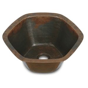 "Copper Bar Sink Hexagon 16"" by Pure Spa Copper Elements"