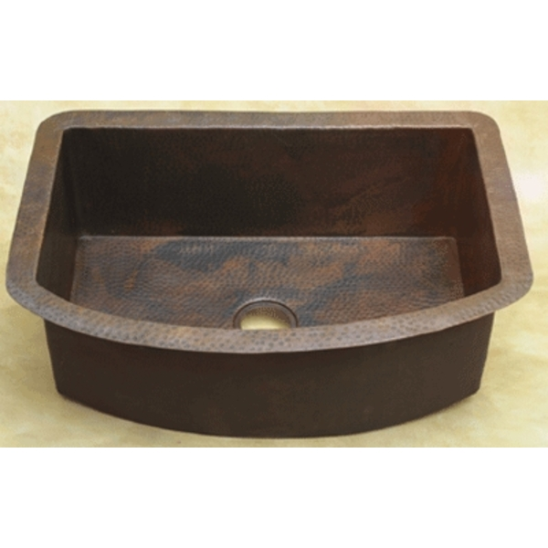 Copper Rounded Front Kitchen Sink LARGE by Pure Spa Copper Elements