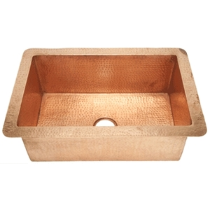 "Shiny Kitchen Sink 33"" LARGE by Pure Spa Copper Elements"