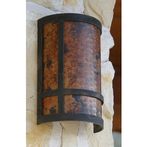 Iron Wall Sconce by Pure Spa Copper Elements