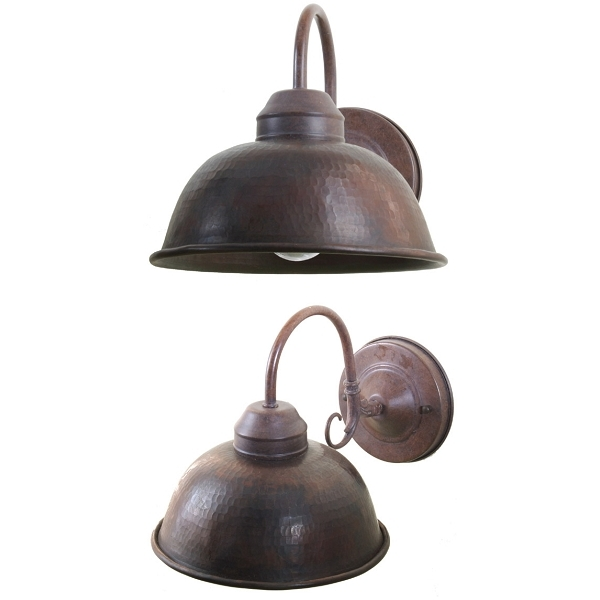 "Copper Wall Mount Light 8"" by Pure Spa Copper Elements"