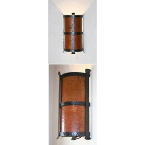 Large Iron Wall Sconce by Pure Spa Copper Elements