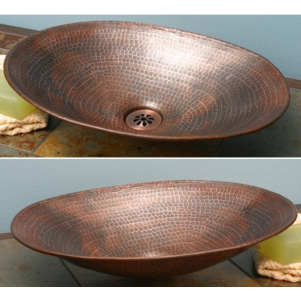 Mini Copper Oval Vessel Sink-Limited Quantities Available by Pure Spa Copper Elements