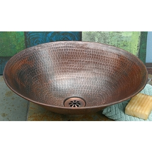 Copper Oval Vessel Sink- Special Order (2-3 weeks) by Pure Spa Copper Elements