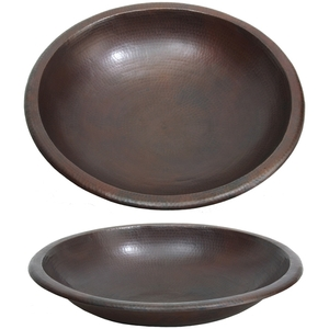 Shallow Spa Foot Soak Copper Pedicure Bowl by Pure Spa Copper Elements