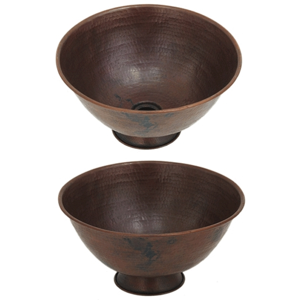Bowl Vessel on Base by Pure Spa Copper Elements