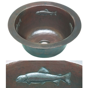 Copper Round BarPrep-Fish by Pure Spa Copper Elements