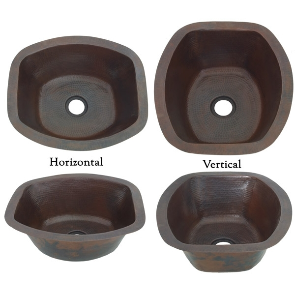 Copper BarPrep Rectangle Sink by Pure Spa Copper Elements