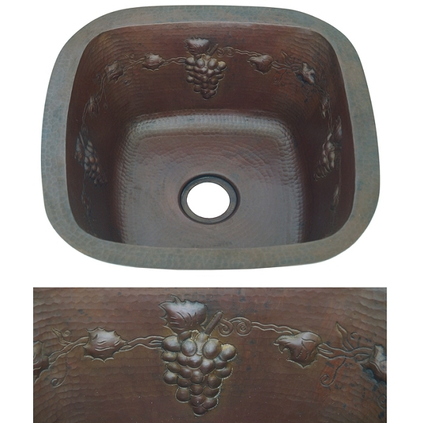 Copper Bar Sink by Pure Spa Copper Elements