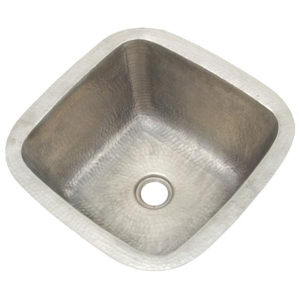 Copper Square BarPrep Sink-Satin Nickel by Pure Spa Copper Elements