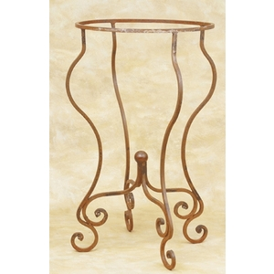 Wrought Iron Copper Oval Sink Stand-Black by Pure Spa Copper Elements