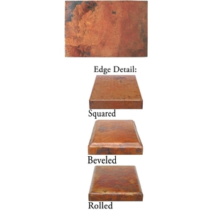 "Copper Rectangle Tabletop 60""x 40"" by Pure Spa Copper Elements"