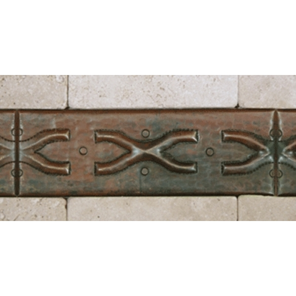 "2""x 6"" Copper Tile Liner-X by Pure Spa Copper Elements"