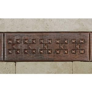 "2""x 6"" Copper Tile Liner-Check by Pure Spa Copper Elements"