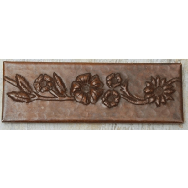 "2""x 6"" Copper Tile Liner by Pure Spa Copper Elements"
