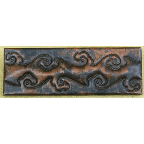"2""x 6"" Vine Copper Tile Liner by Pure Spa Copper Elements"
