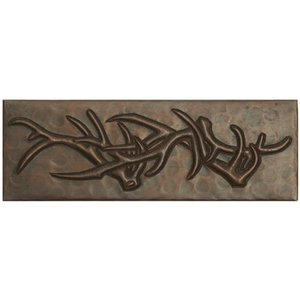 "2""x 6"" Copper Tile Antlers by Pure Spa Copper Elements"
