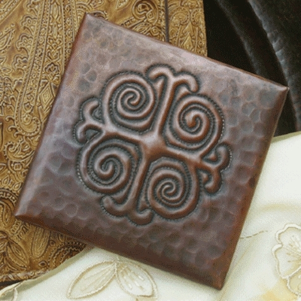 Medallion Copper Tile by Pure Spa Copper Elements