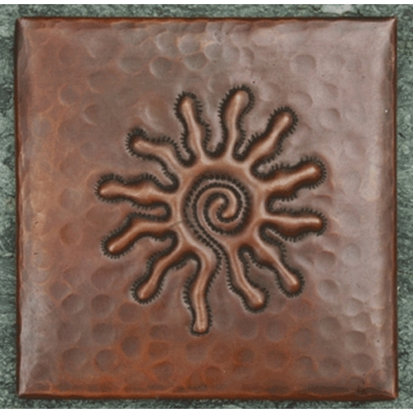 Infinity Sun Copper Tile by Pure Spa Copper Elements