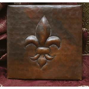 Fleur De Lis Copper Tile by Pure Spa Copper Elements
