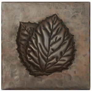 Double Aspen Leaf Copper Tile by Pure Spa Copper Elements