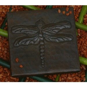 Dragonfly Copper Tile by Pure Spa Copper Elements