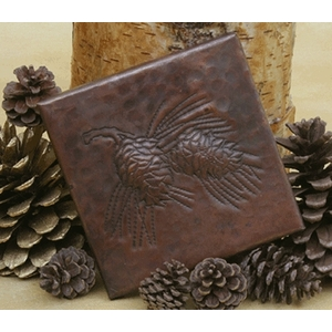 Pinecones Copper Tile by Pure Spa Copper Elements